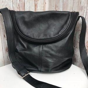 Maxx NY black leather signature crossbody bag